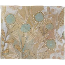 <strong>DENY Designs</strong> Cori Dantini Blue Floral  Polyester Fleece Throw Blanket