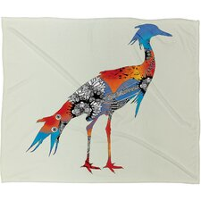 Iveta Abolina Bluebird Polyester Fleece Throw Blanket