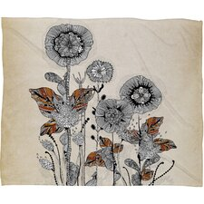 Iveta Abolina Floral 3 Polyester Fleece Throw Blanket