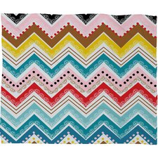 Khristian A Howell Nolita Chevrons Polyester Fleece Throw Blanket