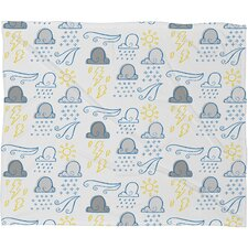 Jennifer Denty Clouds Polyester Fleece Throw Blanket