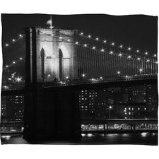 <strong>DENY Designs</strong> Leonidas Oxby Brooklyn Bridge 125 Polyester Fleece Throw Blanket