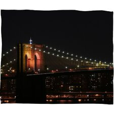 <strong>DENY Designs</strong> Leonidas Oxby Brooklyn Bridge 2 Polyester Fleece Throw Blanket