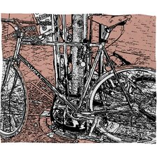 Romi Vega Bike Polyester Fleece Throw Blanket