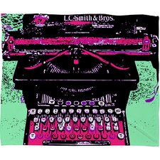 Romi Vega Antique Typewriter Polyester Fleece Throw Blanket