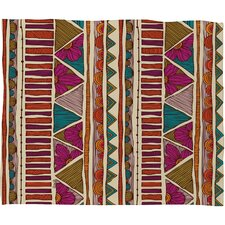 Valentina Ramos Ethnic Stripes Polyester Fleece Throw Blanket