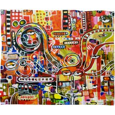 Robin Faye Gates It Came from Detroit Polyester Fleece Throw Blanket