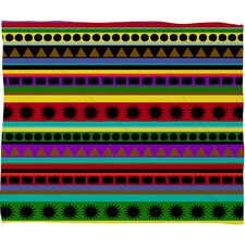 Romi Vega Heavy Pattern Polyester Fleece Throw Blanket