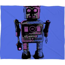 Romi Vega Lantern Robot Polyester Fleece Throw Blanket