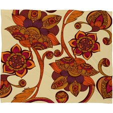 Valentina Ramos Boho Flowers Polyester Fleece Throw Blanket