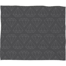 <strong>DENY Designs</strong> Wesley Bird Diamond Print Polyester Fleece Throw Blanket