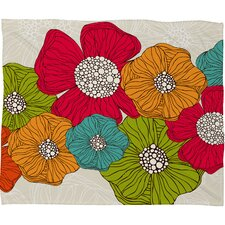 Valentina Ramos Flowers Polyester Fleece Throw Blanket