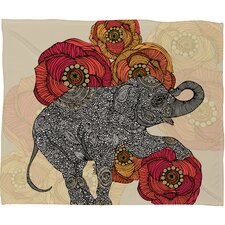 Valentina Ramos Rosebud Polyester Fleece Throw Blanket