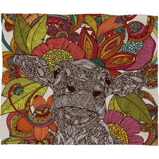 <strong>DENY Designs</strong> Valentina Ramos Arabella and The Polyester Flowers Fleece Throw Blanket