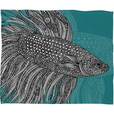 Valentina Ramos Beta Fish Polyester Fleece Throw Blanket