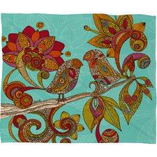 <strong>DENY Designs</strong> Valentina Ramos Hello Birds Polyester Fleece Throw Blanket