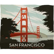 <strong>DENY Designs</strong> Anderson Design Group San Francisco Polyester Fleece  Throw Blanket