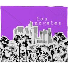 Bird Ave Los Angeles Polyester Fleece Throw Blanket