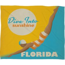 Anderson Design Group Dive Florida Polyester Fleece Throw Blanket