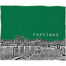 Bird Ave Portland Polyester Fleece Throw Blanket