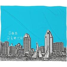 Bird Ave San Diego Polyester Fleece Throw Blanket