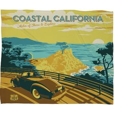Anderson Design Group Coastal California Polyester Fleece  Throw Blanket
