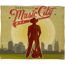 Anderson Design Group Music City Polyester Fleece  Throw Blanket