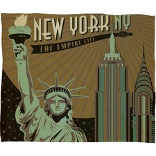 <strong>DENY Designs</strong> Anderson Design Group New York Polyester Fleece  Throw Blanket