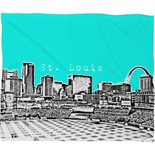 Bird Ave St Louis Polyester Fleece Throw Blanket