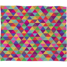 Bianca Green in Love with Triangles Polyester Fleece Throw Blanket