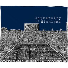 <strong>DENY Designs</strong> Bird Ave University of Michigan Polyester Fleece Throw Blanket