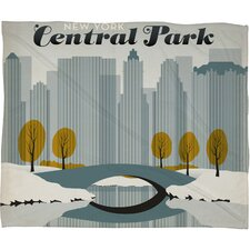 <strong>DENY Designs</strong> Anderson Design Group Central Park Snow Polyester Fleece  Throw Blanket