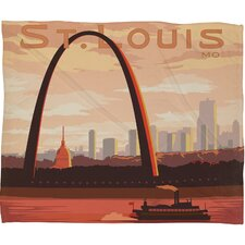 Anderson Design Group Saint Louis Polyester Fleece Throw Blanket