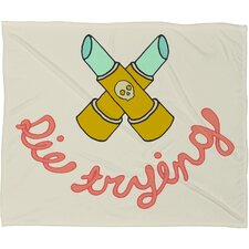 <strong>DENY Designs</strong> Wesley Bird Die Trying Polyester Fleece Throw Blanket