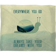 Belle13 Always Take Your Dreams With You Polyester Fleece Throw Blanket