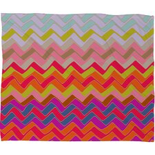 Sharon Turner Geo Chevron Plush Fleece Throw Blanket