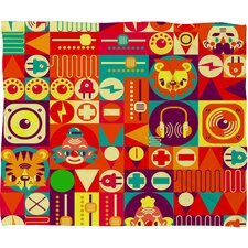 Chobopop Elecro Circus Polyester Fleece Throw Blanket