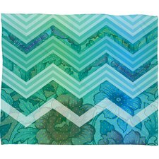 Gabi Azul Polyester Fleece Throw Blanket