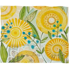 <strong>DENY Designs</strong> Cori Dantini Sun Burst Flowers Polyester Fleece Throw Blanket