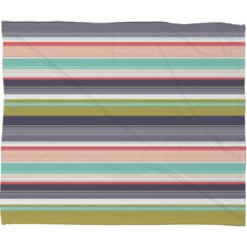 <strong>DENY Designs</strong> Wendy Kendall Multi Stripe Polyester Fleece Throw Blanket