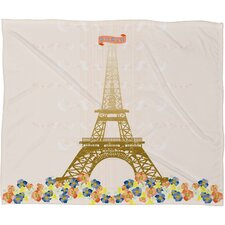 Jennifer Hill Polyester Fleece Throw Blanket