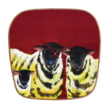 <strong>DENY Designs</strong> Clara Nilles Lemon Spongecake Sheep Wall Clock