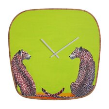<strong>DENY Designs</strong> Clara Nilles Leopard Lovers Wall Clock