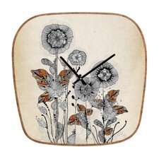 Iveta Abolina Floral Wall Clock