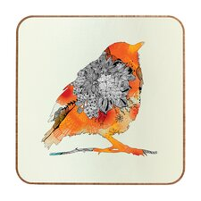 <strong>DENY Designs</strong> Iveta Abolina Orange Bird Wall Art