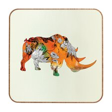 Rhino by Iveta Abolina Framed Graphic Art Plaque