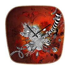 <strong>DENY Designs</strong> Iveta Abolina Wild Lilly Wall Clock