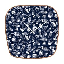 Jennifer Denty Jellyfish Wall Clock