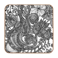 <strong>DENY Designs</strong> Valentina Ramos Bird in Flowers Black White Wall Art