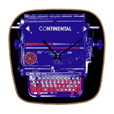 <strong>DENY Designs</strong> Romi Vega Continental Typewriter Wall Clock